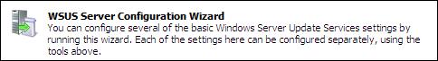 WSUS Server Configuration Wizard