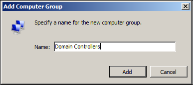Add Computer group