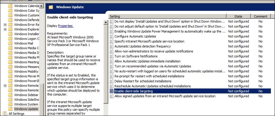 Windows Update GPO