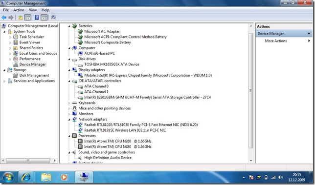 netbook device manager