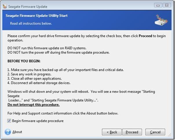 seagate firmware update 2