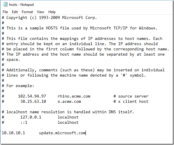 Windows ignoring specific entries in the HOSTS file » RO